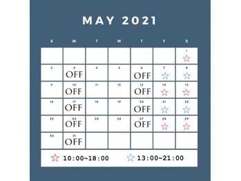 《 miki 》 5月の出勤日について *_20210501_1